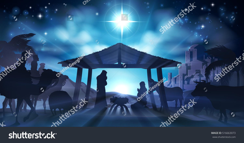 Royalty Free Stock Illustration of Christian Christmas Nativity ...