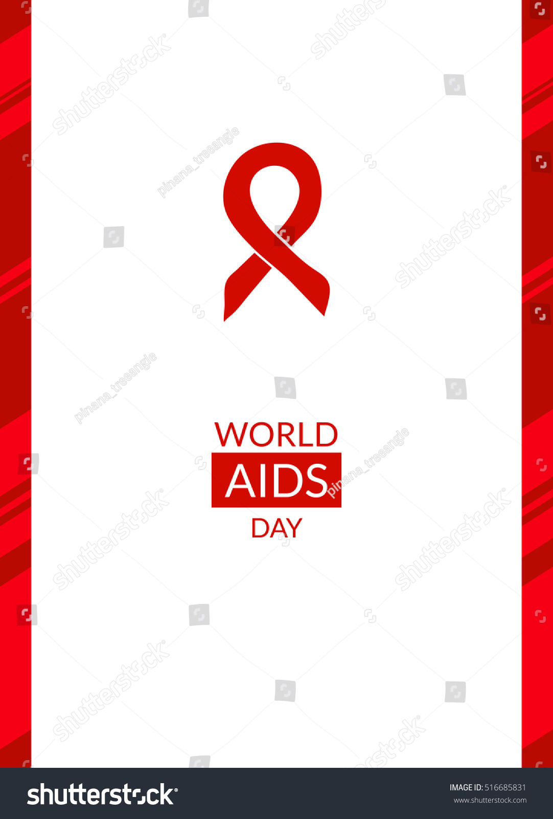 World Aids Day 1st December Poster Stock Illustration ...