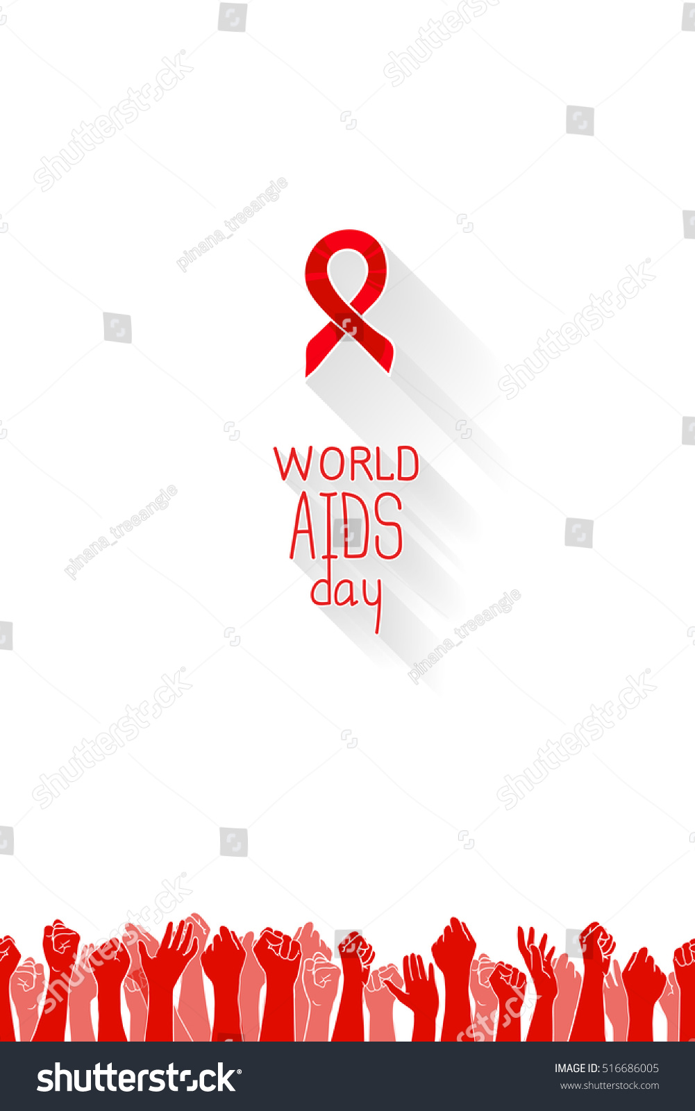 World Aids Day, 1st December, Poster Template. Red Ribbon ...