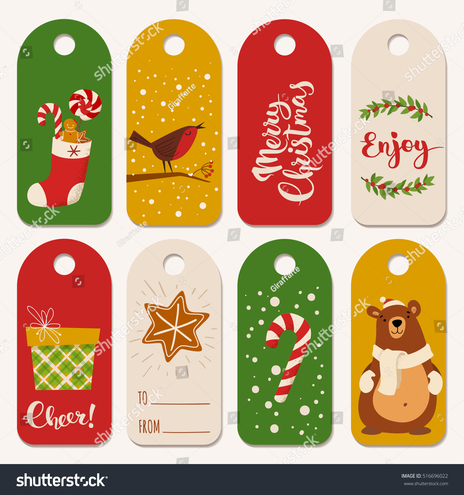 vector holiday christmas labels funny christmas stock vector