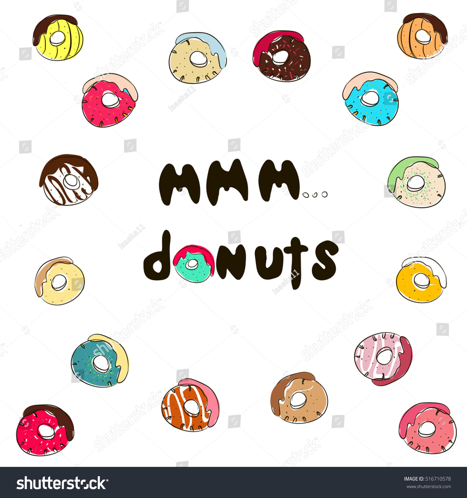 Mmm Stock Quote Mmm Donuts Inscription Stock Quotes Donuts Stock Vector 516710578