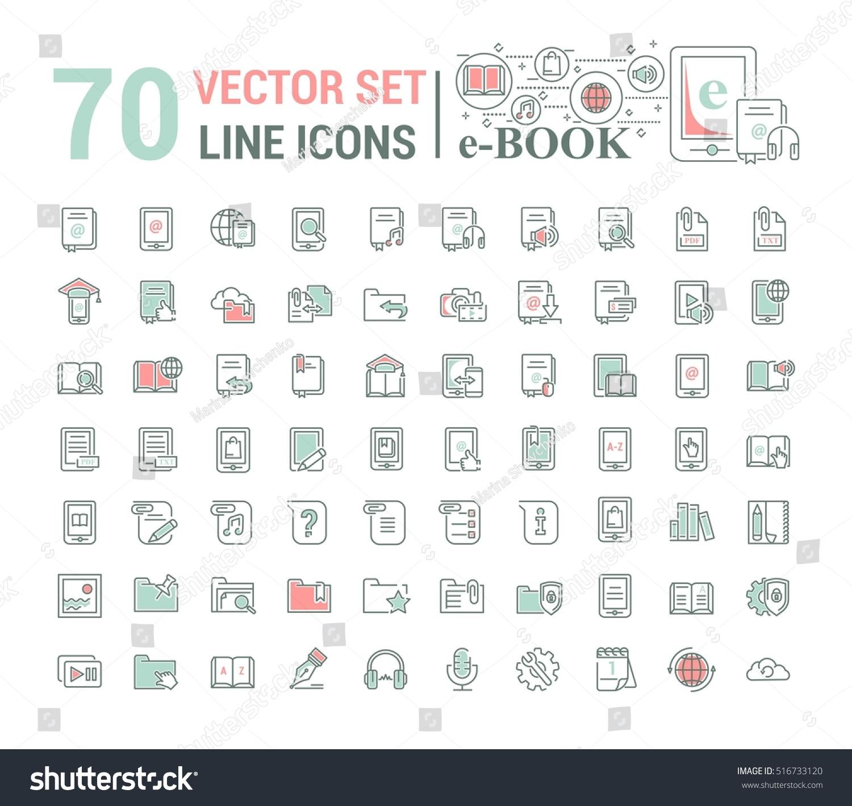 Vector Graphic Setlogo Icon Ebook Pocket Stock Vector 516733120 ...