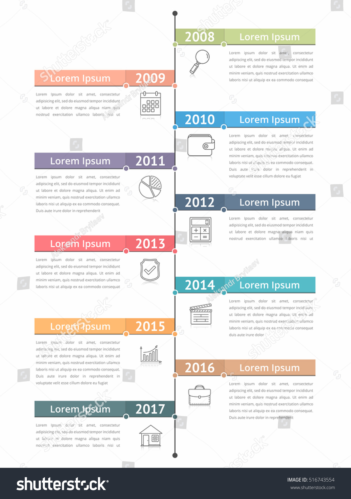 vertical timeline infographics template workflow process stock vector 516743554 shutterstock. Black Bedroom Furniture Sets. Home Design Ideas
