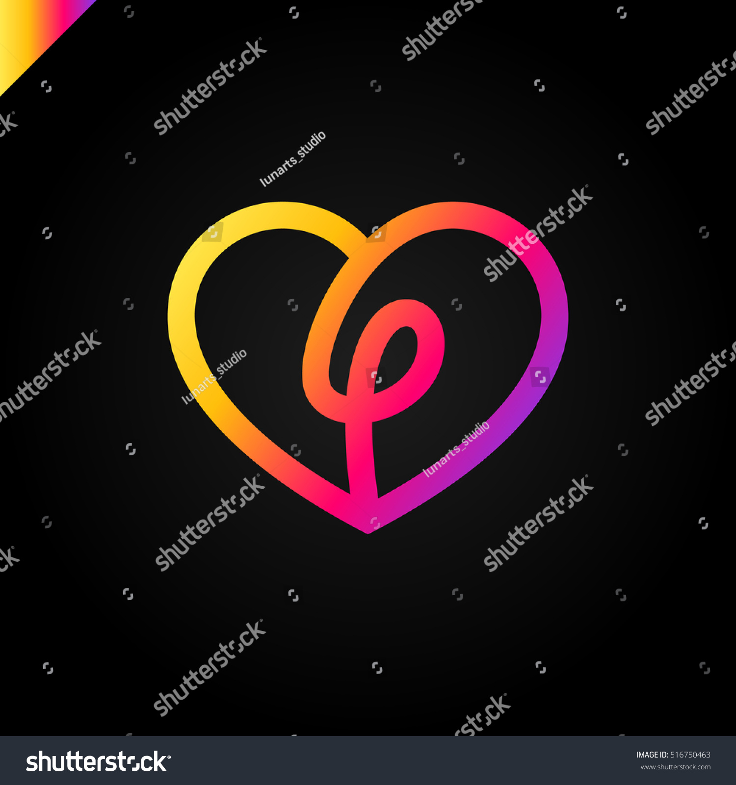 Heart symbol logo icon design template stock vector 516750463 heart symbol logo icon design template with letter l in middle may be used in buycottarizona