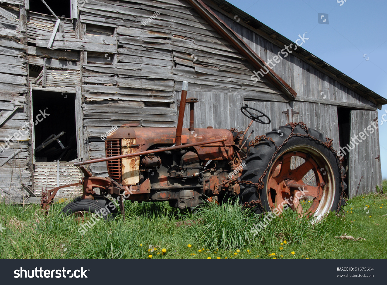 Abandoned Rusty Tractor Stock Photo 51675694