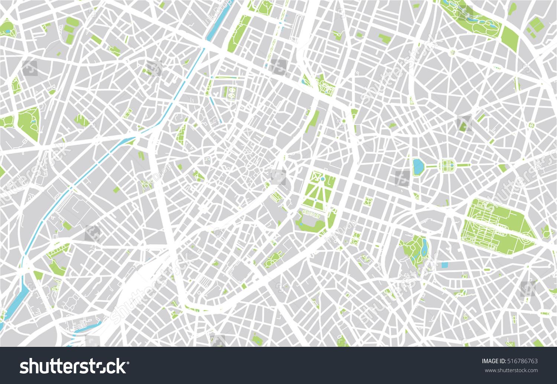 Urban City Map Brussels Belgium Stock Vector Shutterstock - Brussels belgium map