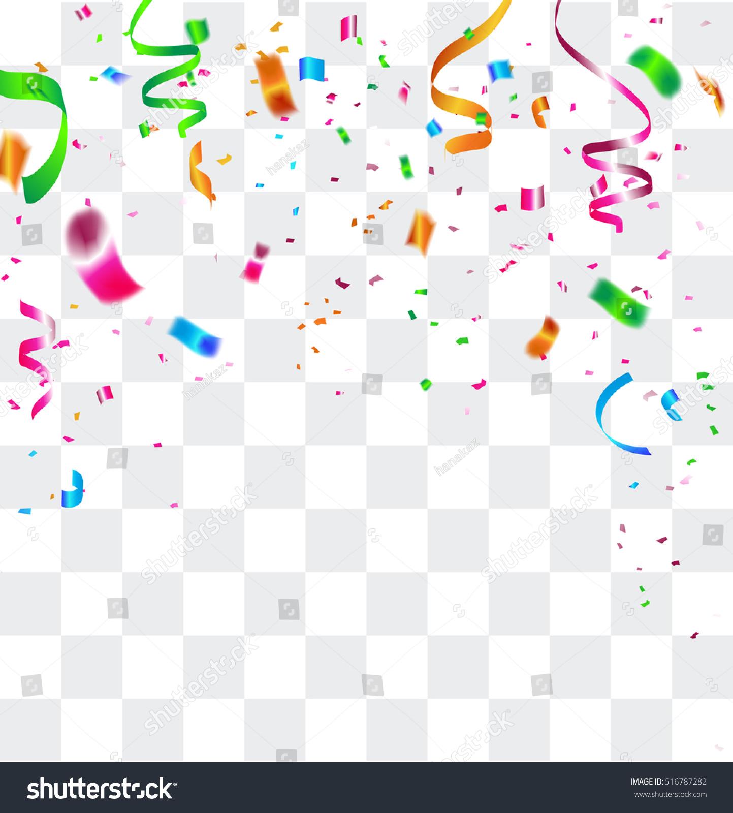 Colorful Celebration Background Confetti Vector Illustration Stock