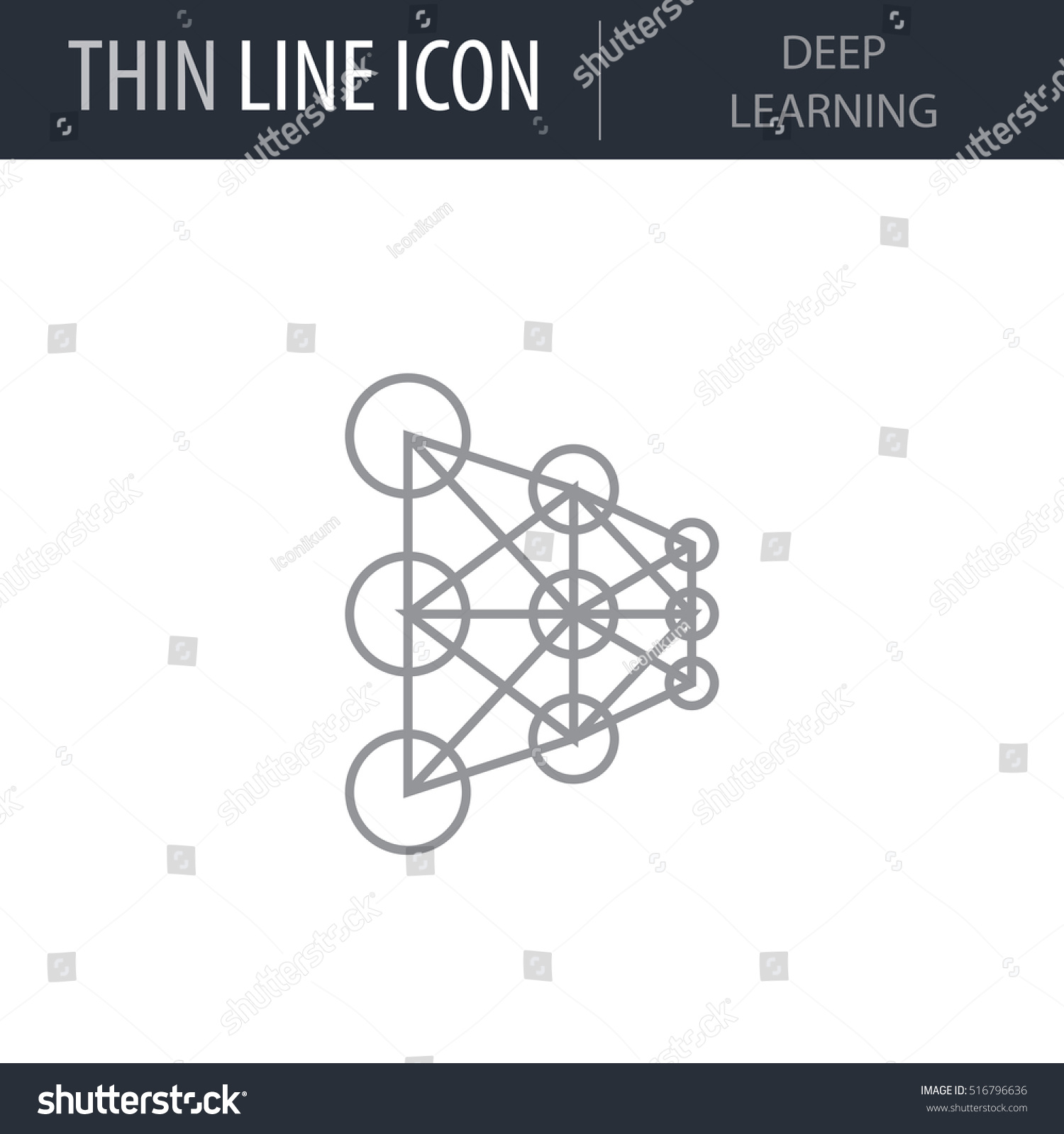 Symbol deep learning thin line icon stock vector 516796636 symbol of deep learning thin line icon of data science stroke pictogram graphic for web buycottarizona Image collections