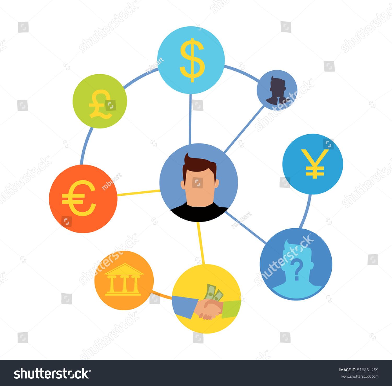 International currency exchange concept world banking stock international currency exchange concept world banking system money exchange and cost transferring illustration buycottarizona Gallery