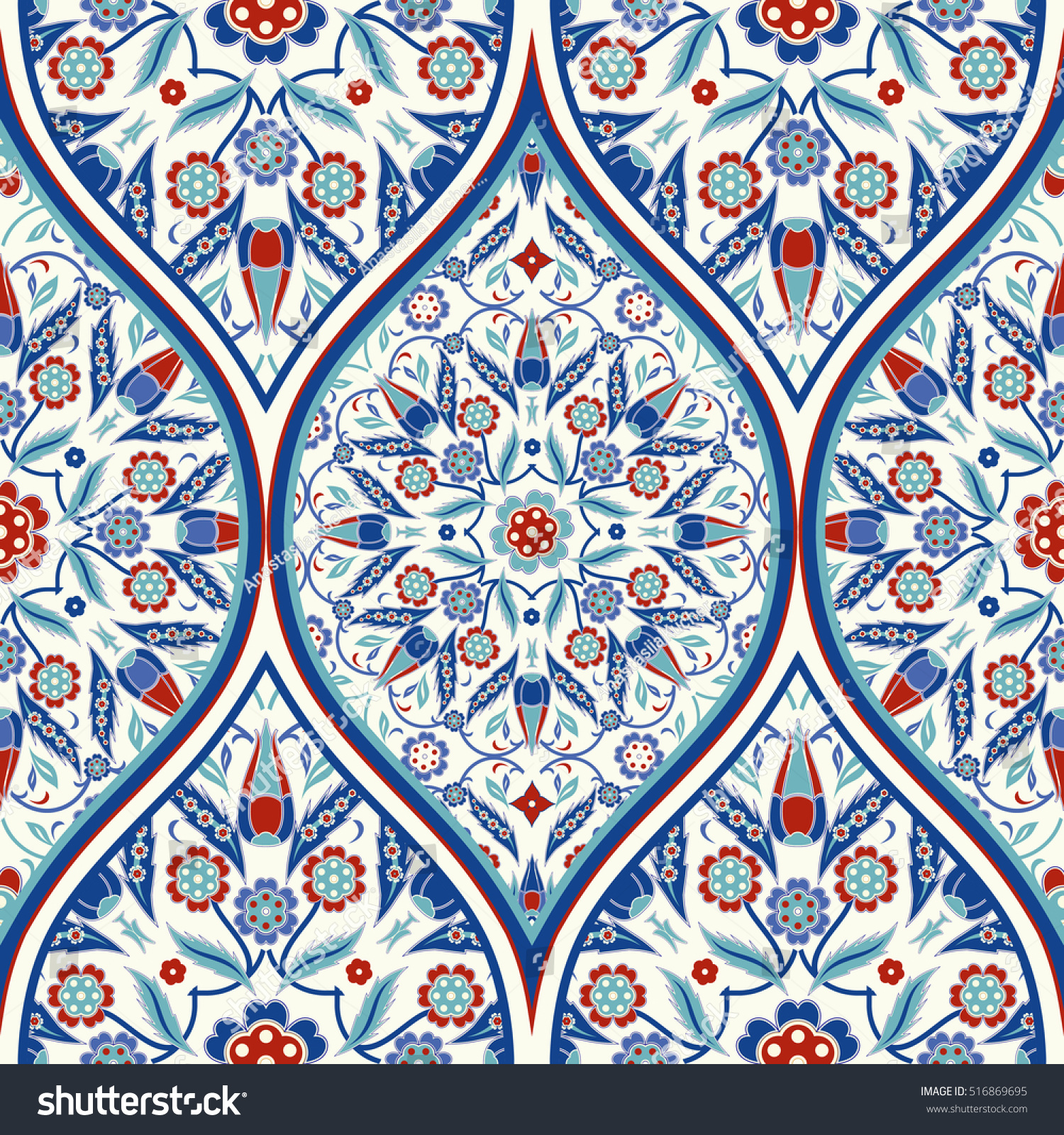 Seamless colorful turkish pattern endless pattern stock vector seamless colorful turkish pattern endless pattern can be used for ceramic tile wallpaper doublecrazyfo Choice Image