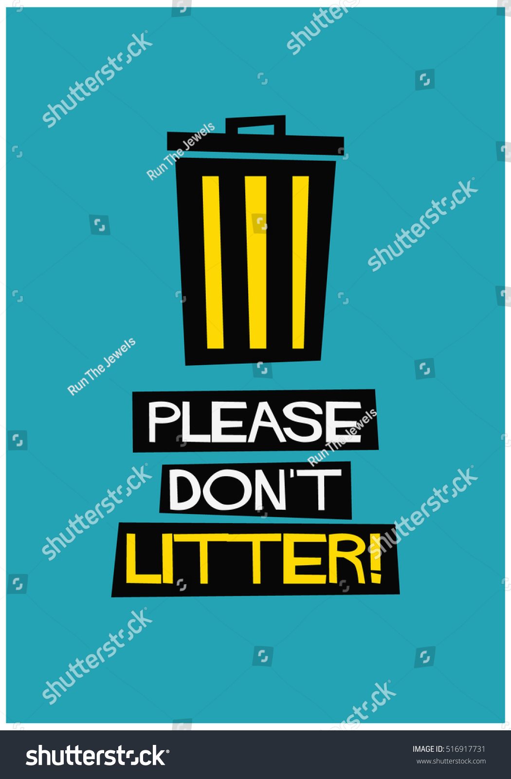 Poster design dos and donts - Please Don T Litter Flat Style Vector Illustration Sign Notice Poster Design