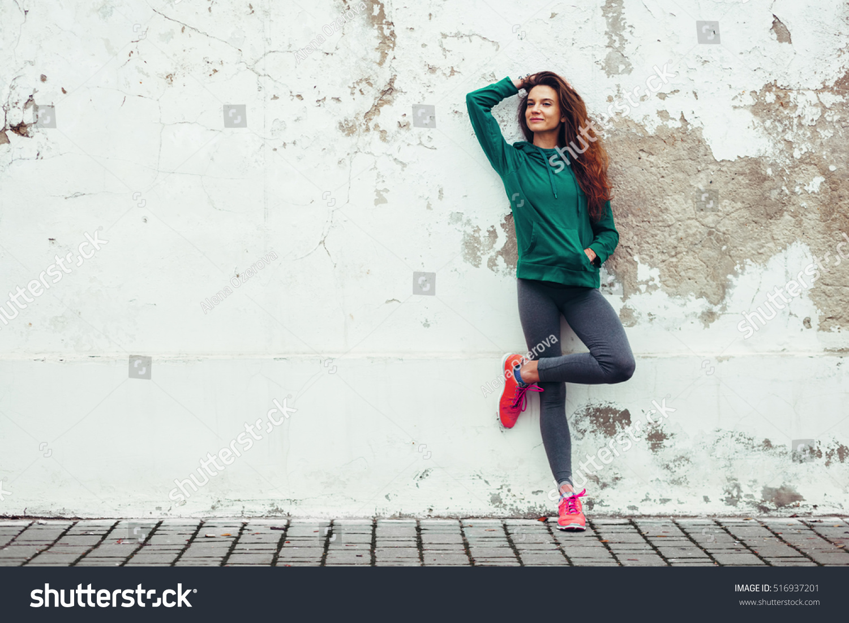 Fitness Sport Girl Fashion Sportswear Doing Stock Photo 516937201 - Shutterstock