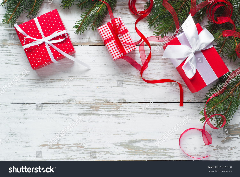 Christmas Gift Box Christmas Presents Red Stock Photo (Edit Now ...