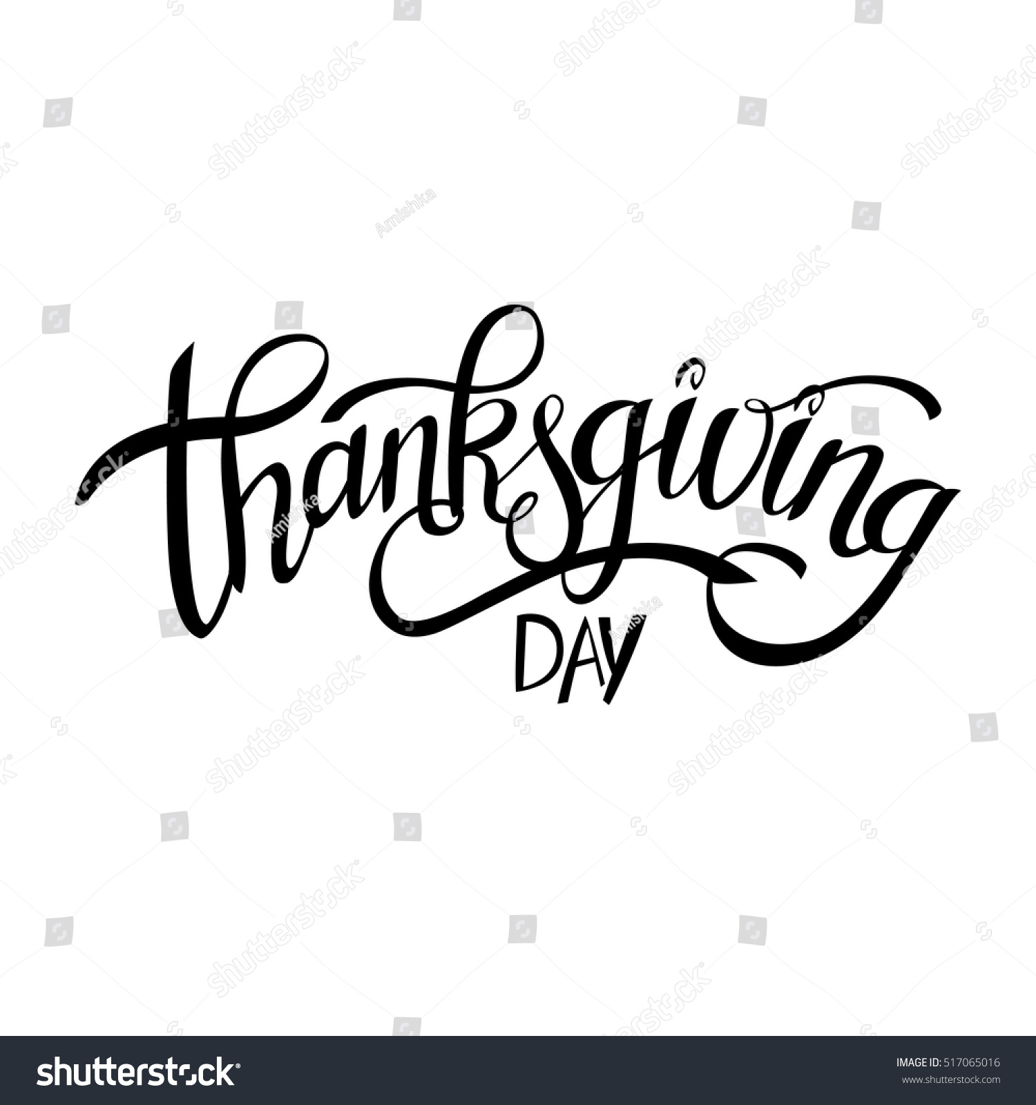 Hand drawn thanksgiving typography lettering celebration