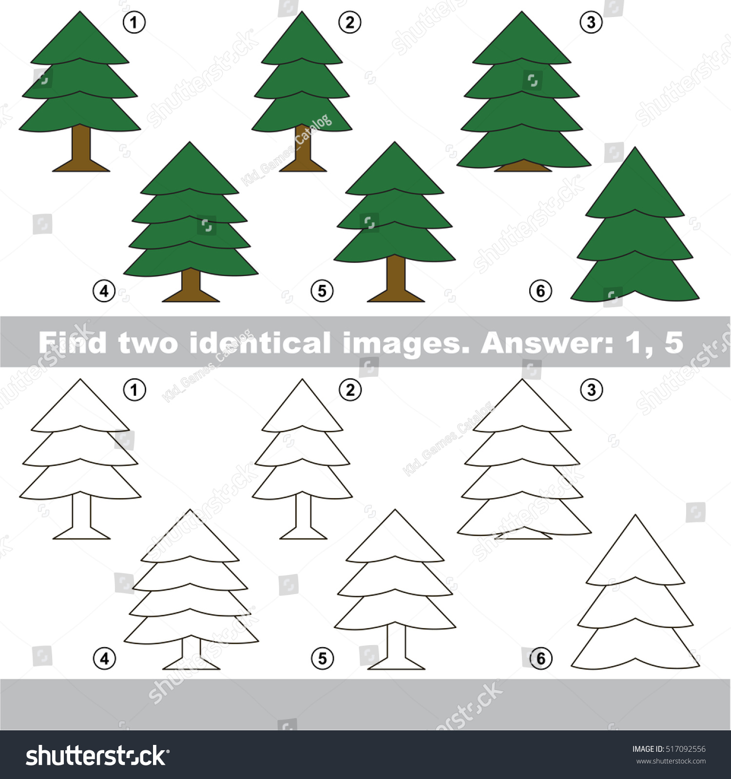 evergreen fur tree be colored coloring stock vector royalty free
