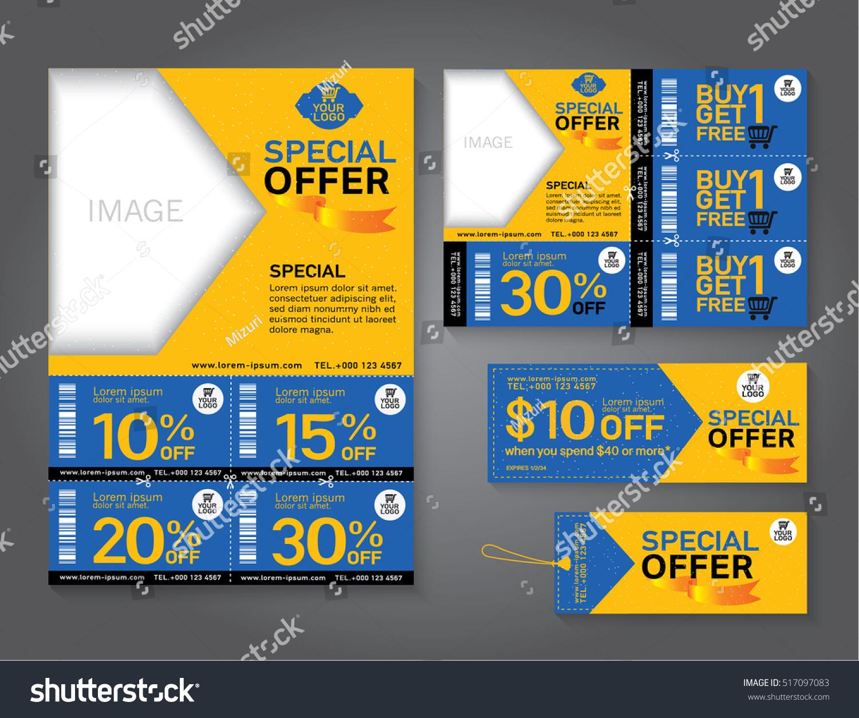Sale Flyer Promotions Coupon Banner Design Vector de stock517097083 ...
