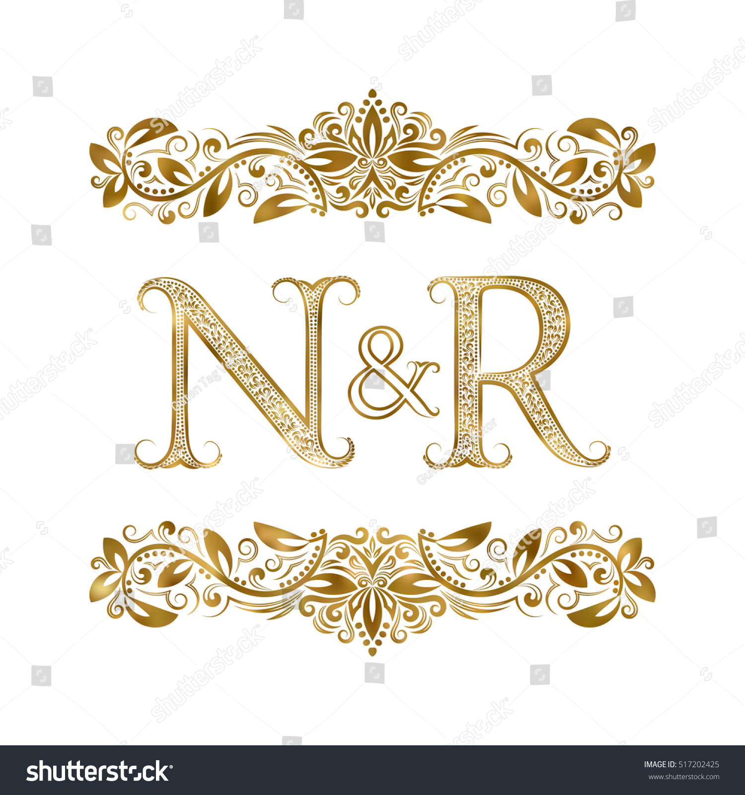N r vintage initials logo symbol stock vector royalty free n and r vintage initials logo symbol the letters are surrounded by ornamental elements altavistaventures Gallery