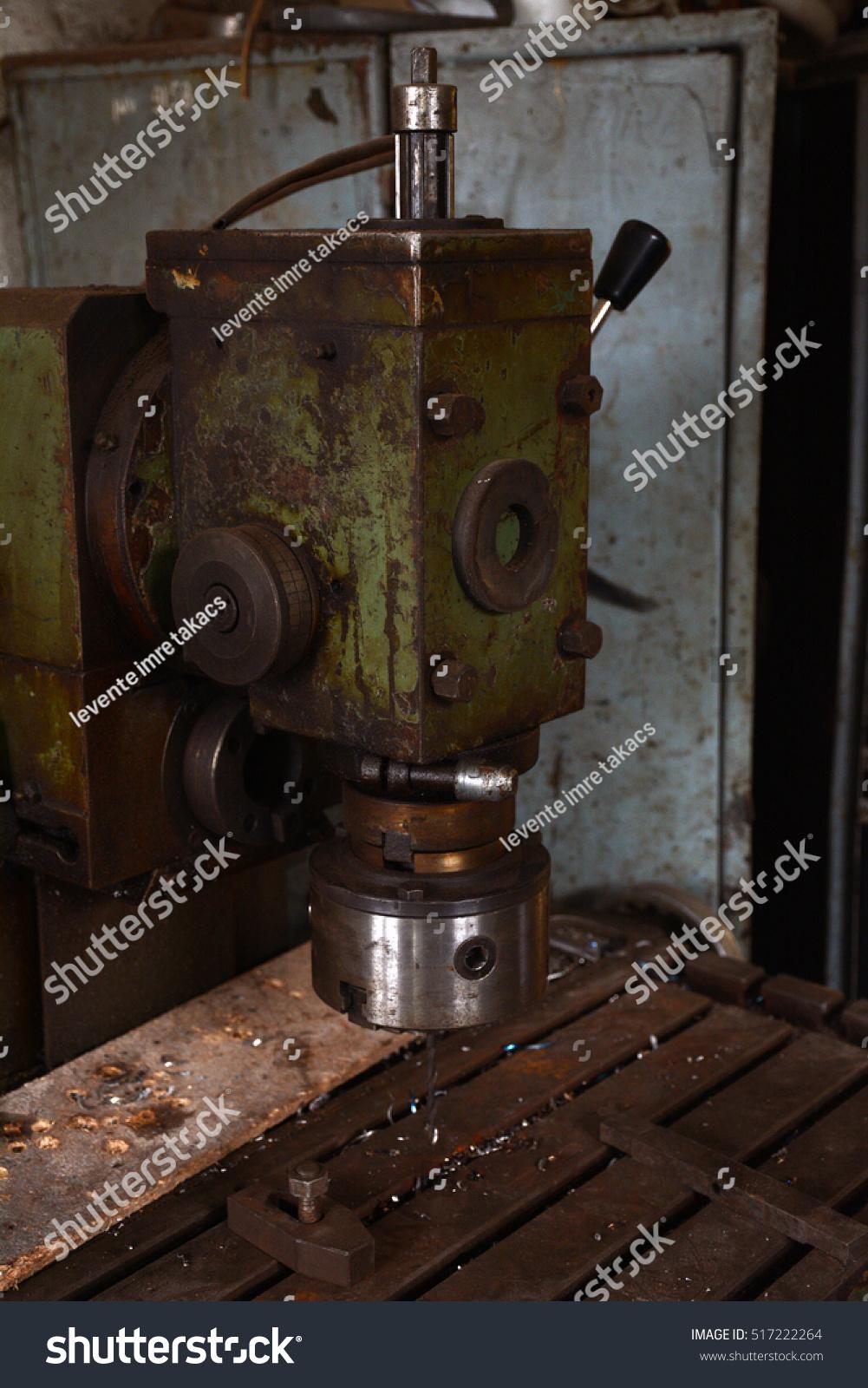 Interior Vintage Workshop Old Machine Workshop Stock Photo Edit Now 517222264