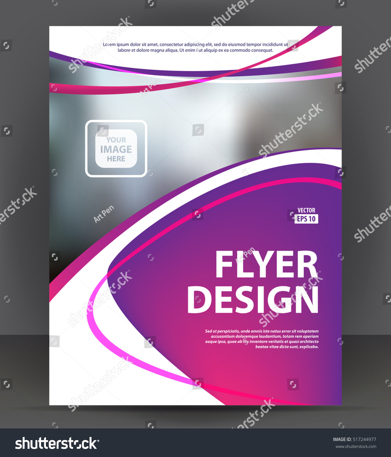 abstract flyer brochure cover layout design のベクター画像素材