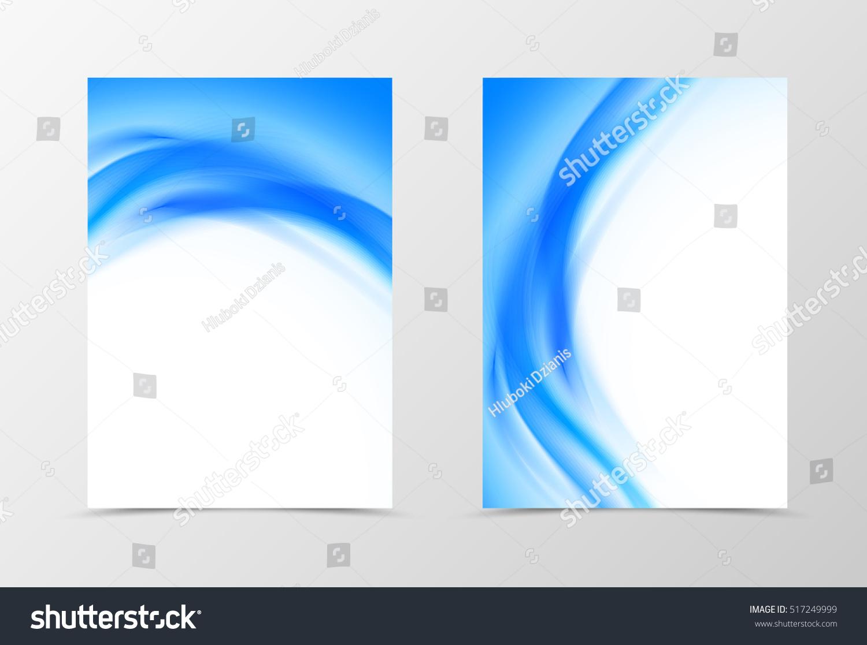 front back wavy flyer template design のベクター画像素材