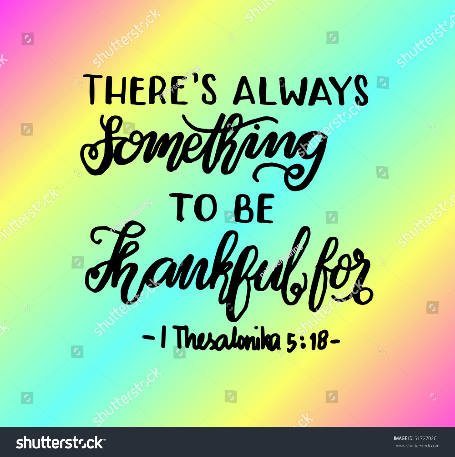 there always something be thankful for stock vector royalty free