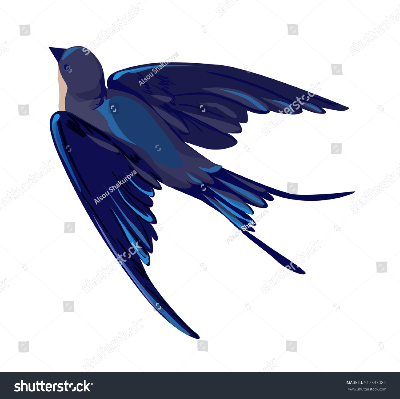 Set of sketches of flying swallows stock vector illustration - Swallow Vector Vector Illustration Isolated Bird Bird Flying Bird Silhouette Bird Vector