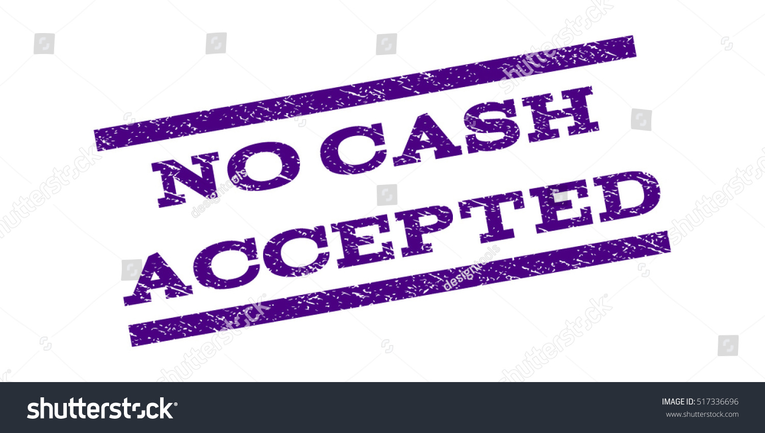 No Cash Accepted Watermark Stamp Text Stock Vector (Royalty Free