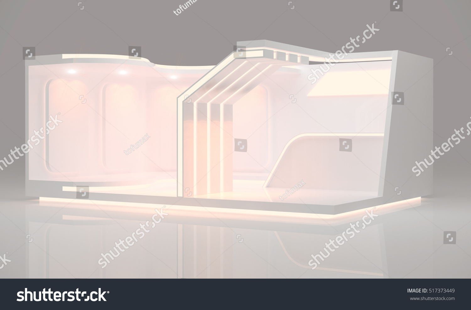 Modern Exhibition Stand Mixer : Modern booth exhibition design d image stock illustration