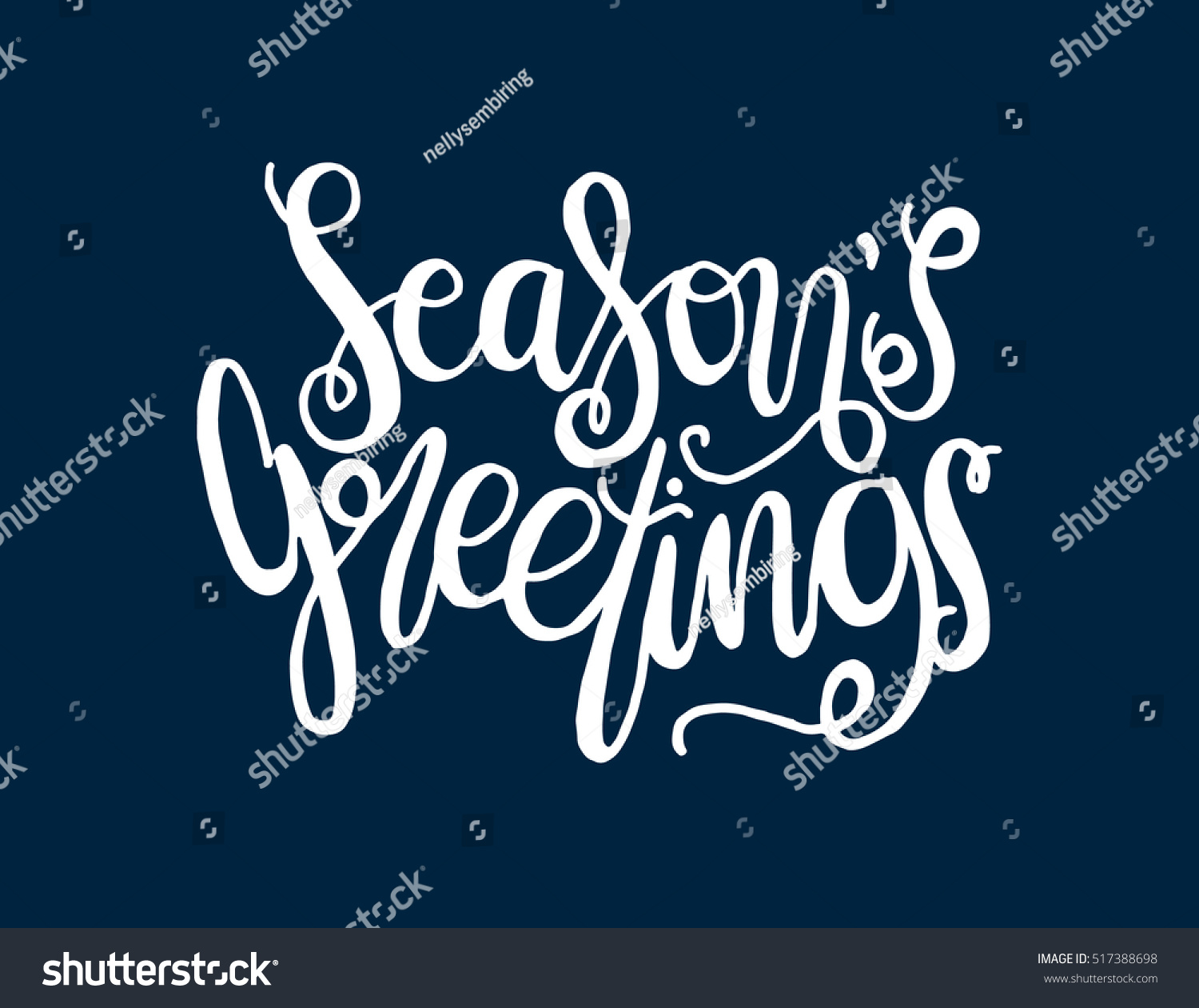 Seasons greetings hand lettered quote bible stock vector