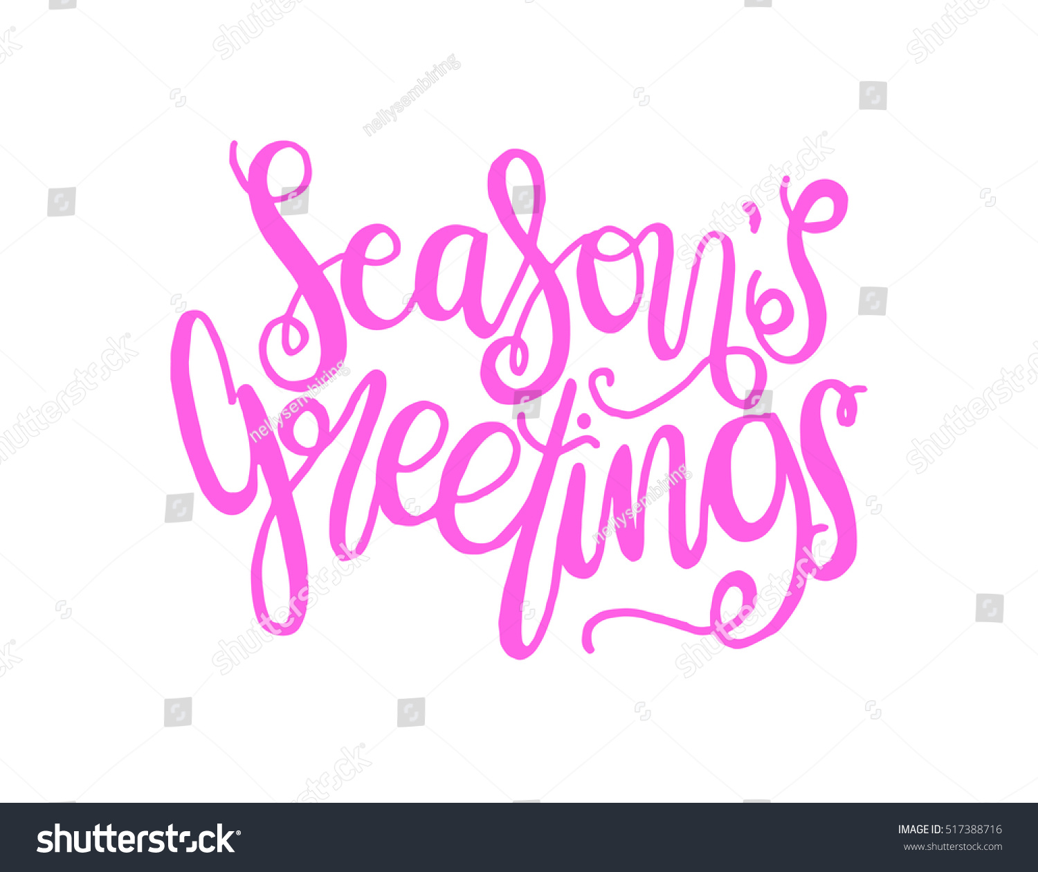 Seasons Greetings Hand Lettered Quote Bible Stock Photo Photo