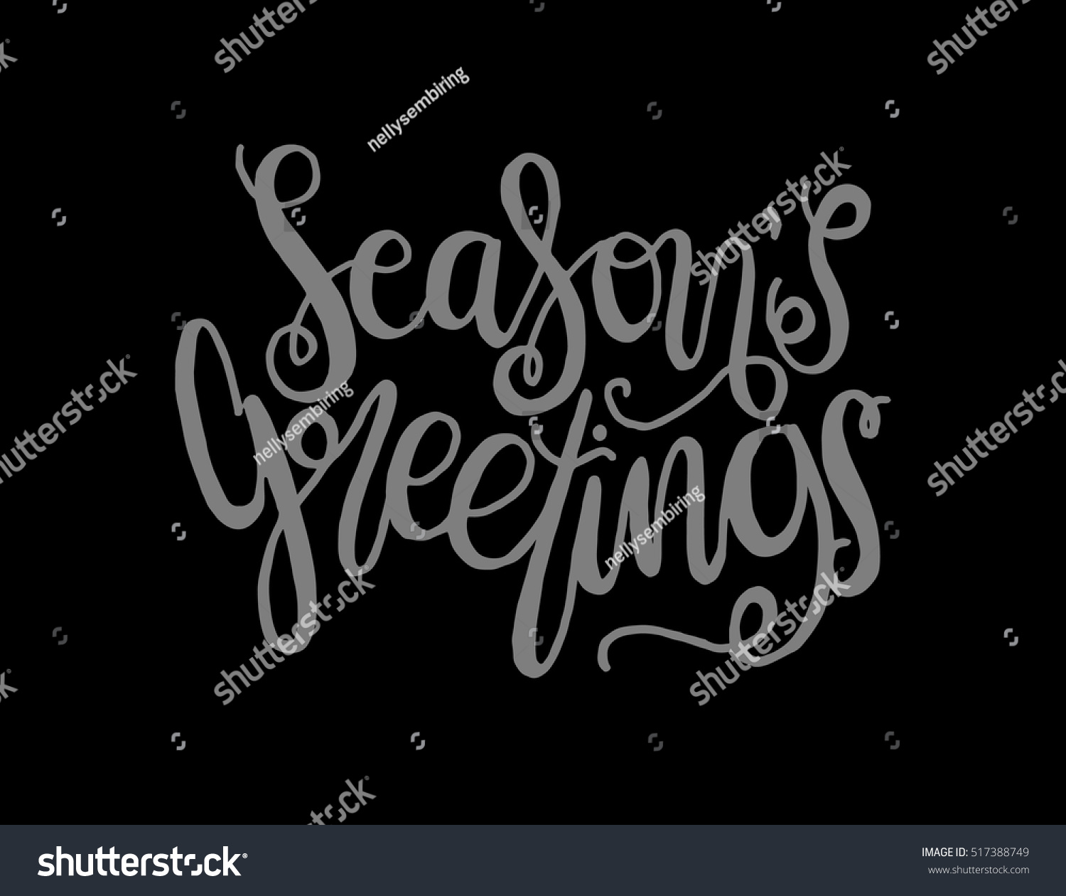 Seasons Greetings Hand Lettered Quote Bible Verse Modern
