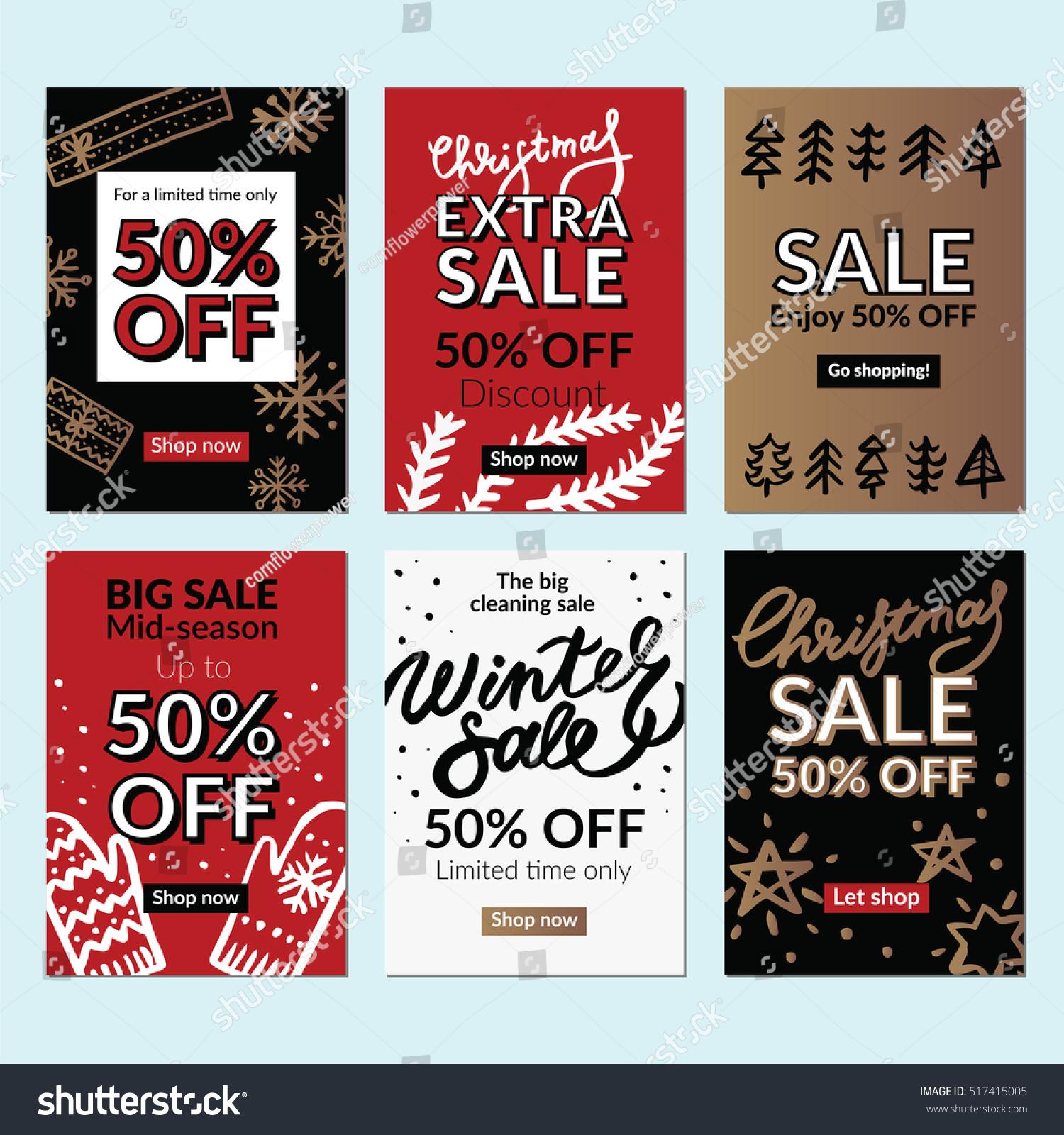Set Christmas New Year Mobile Sale Stock-Vektorgrafik (Lizenzfrei ...