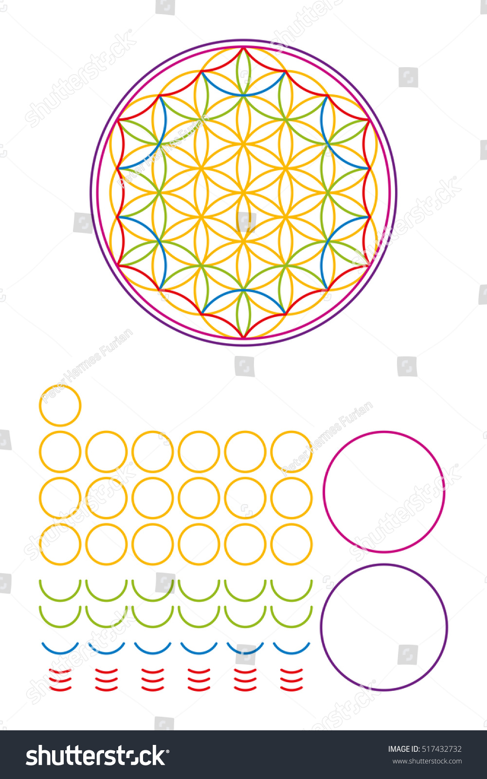 Golden Latin Cross Radial Dot Pattern Stock Vector Royalty Free