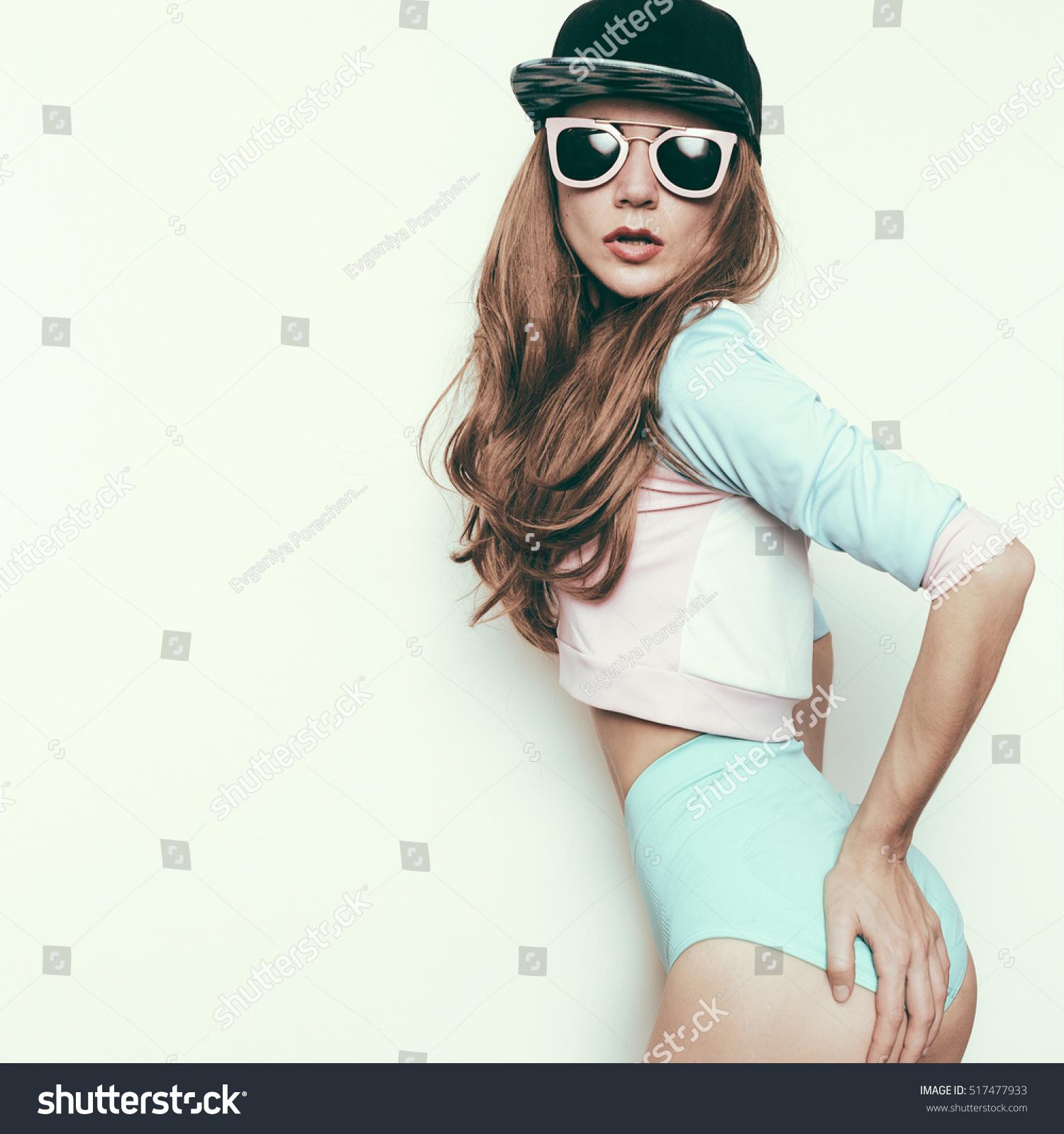 Hipster Teen Girl Skateboard Style Boy Stock Photo ...