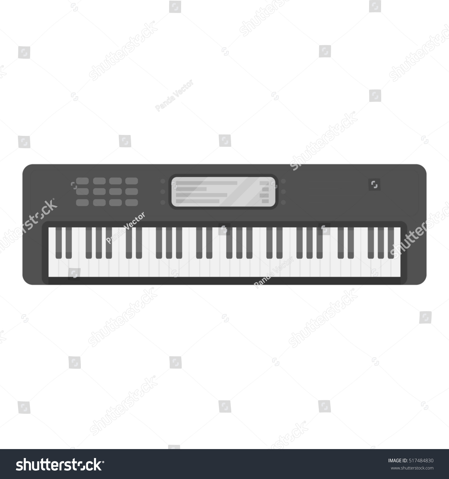 Electronic Synthesizer Piano Keyboard Isolated 3d Rendering Ez Canvas