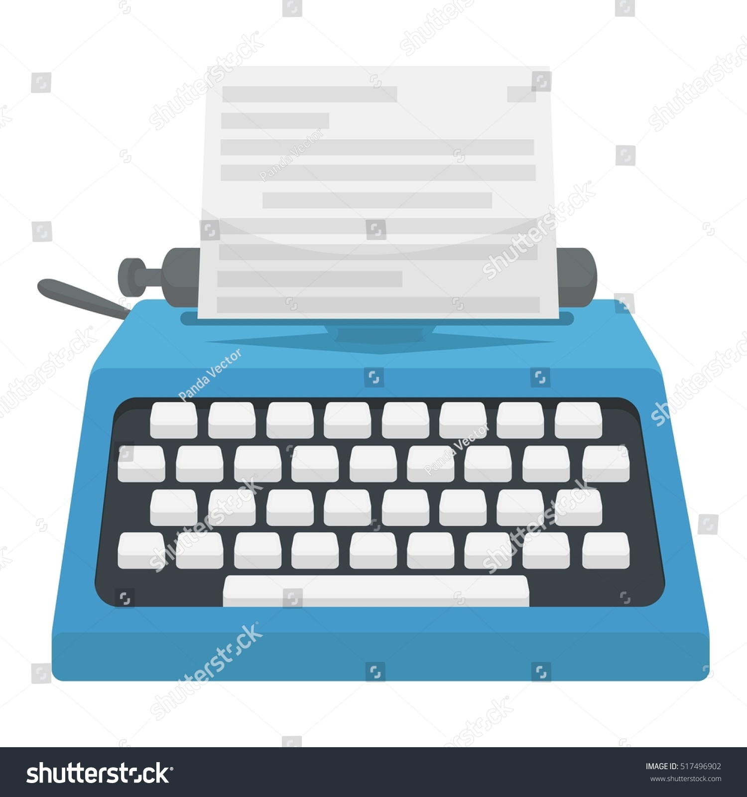 Typewriter Icon Cartoon Style Isolated On Stock Illustration