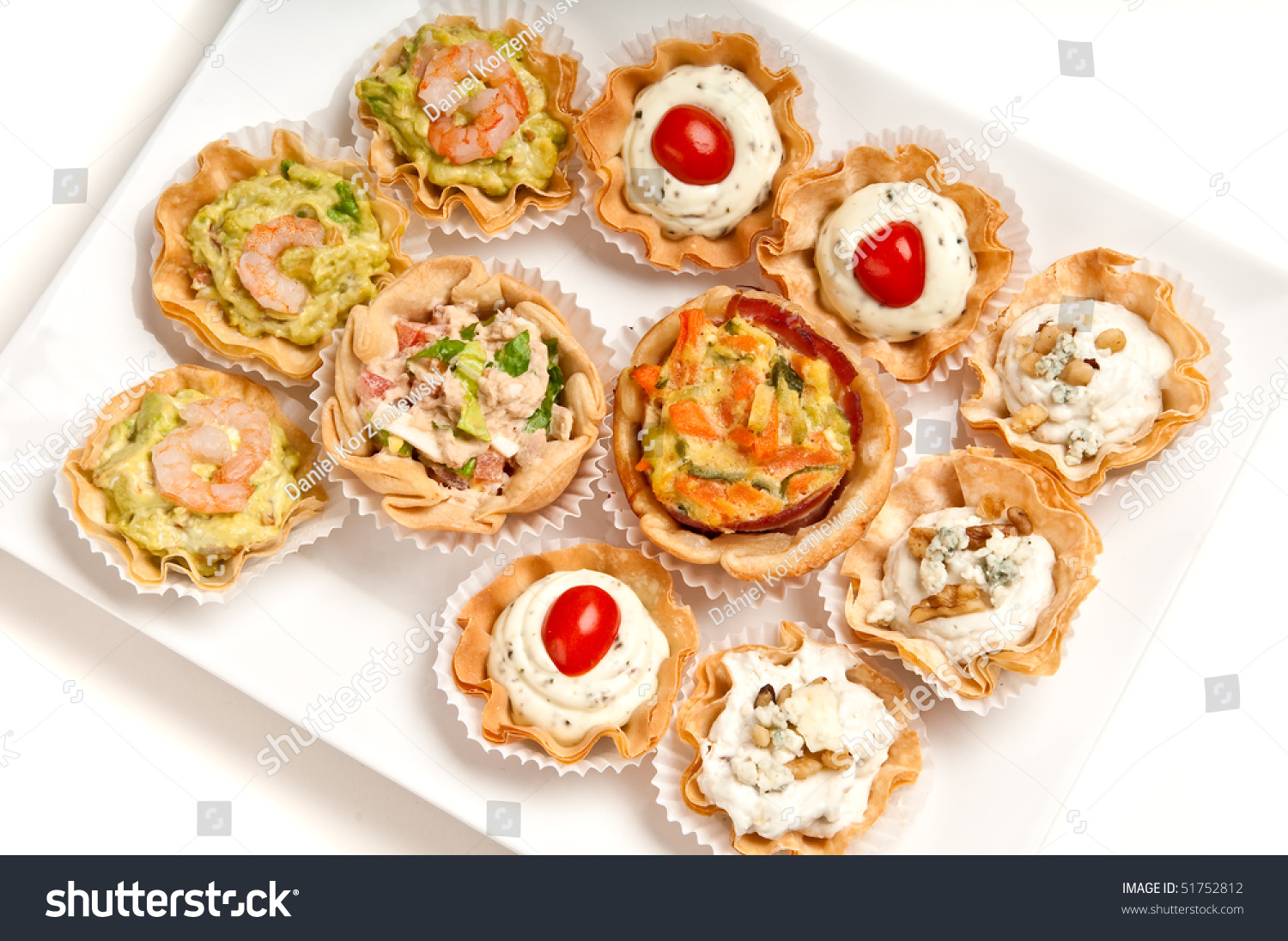 Tray full of volauvent canapes ready to serve volauvent for What does canape mean in french
