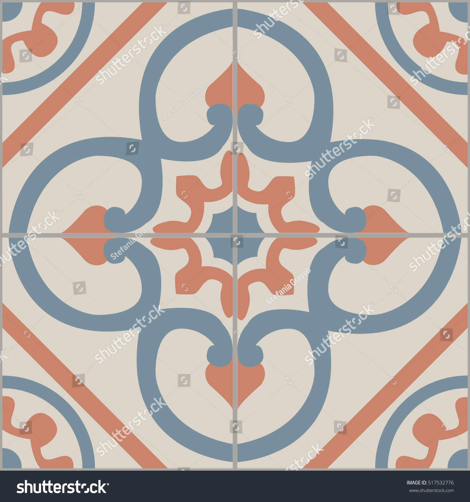 Vintage tiles intricate details decorative look stock vector vintage tiles intricate details for a decorative look seamless vector ceramic paint floor dailygadgetfo Images