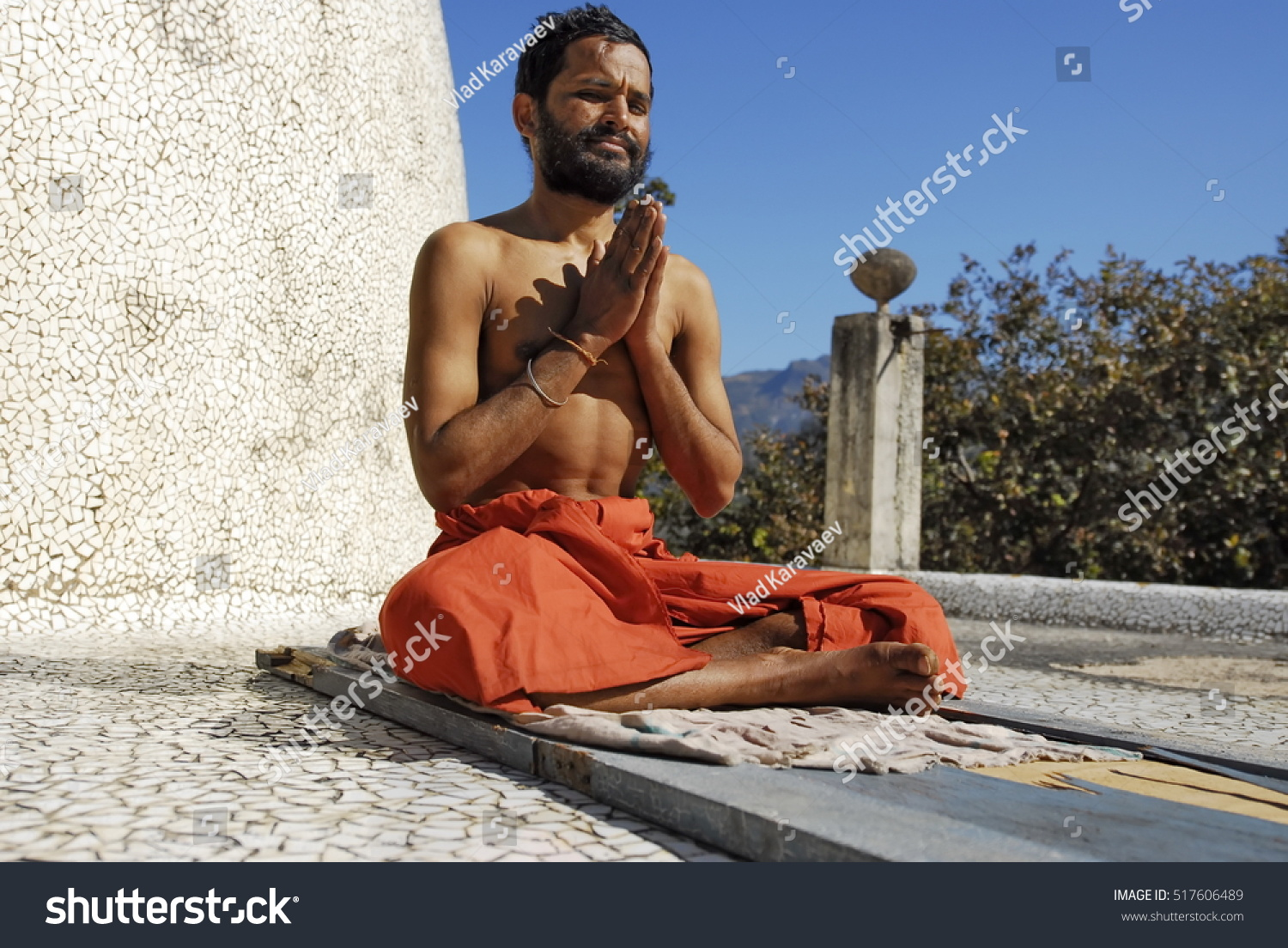 Rishikesh India February 11 Unidentified Indian Stock Foto