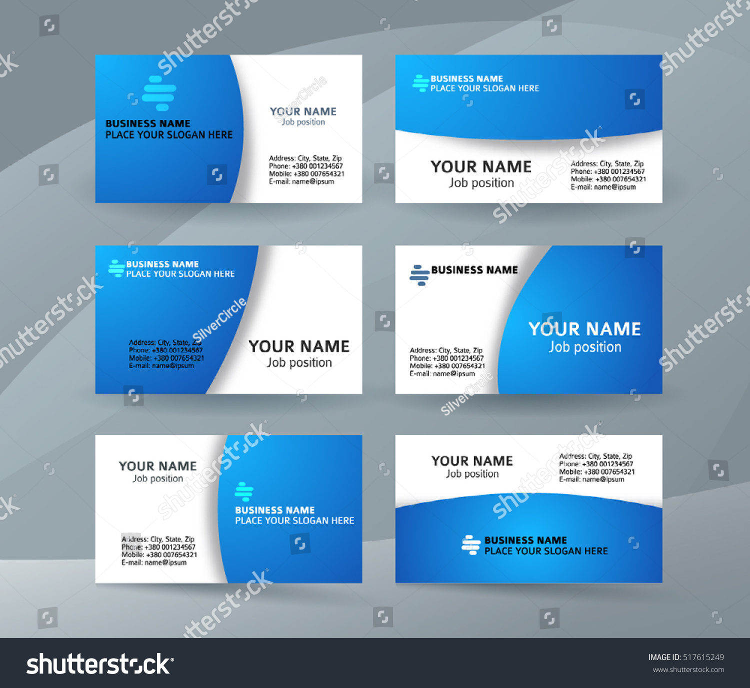 Abstract Professional Designer Business Card Template Stock Vector ...