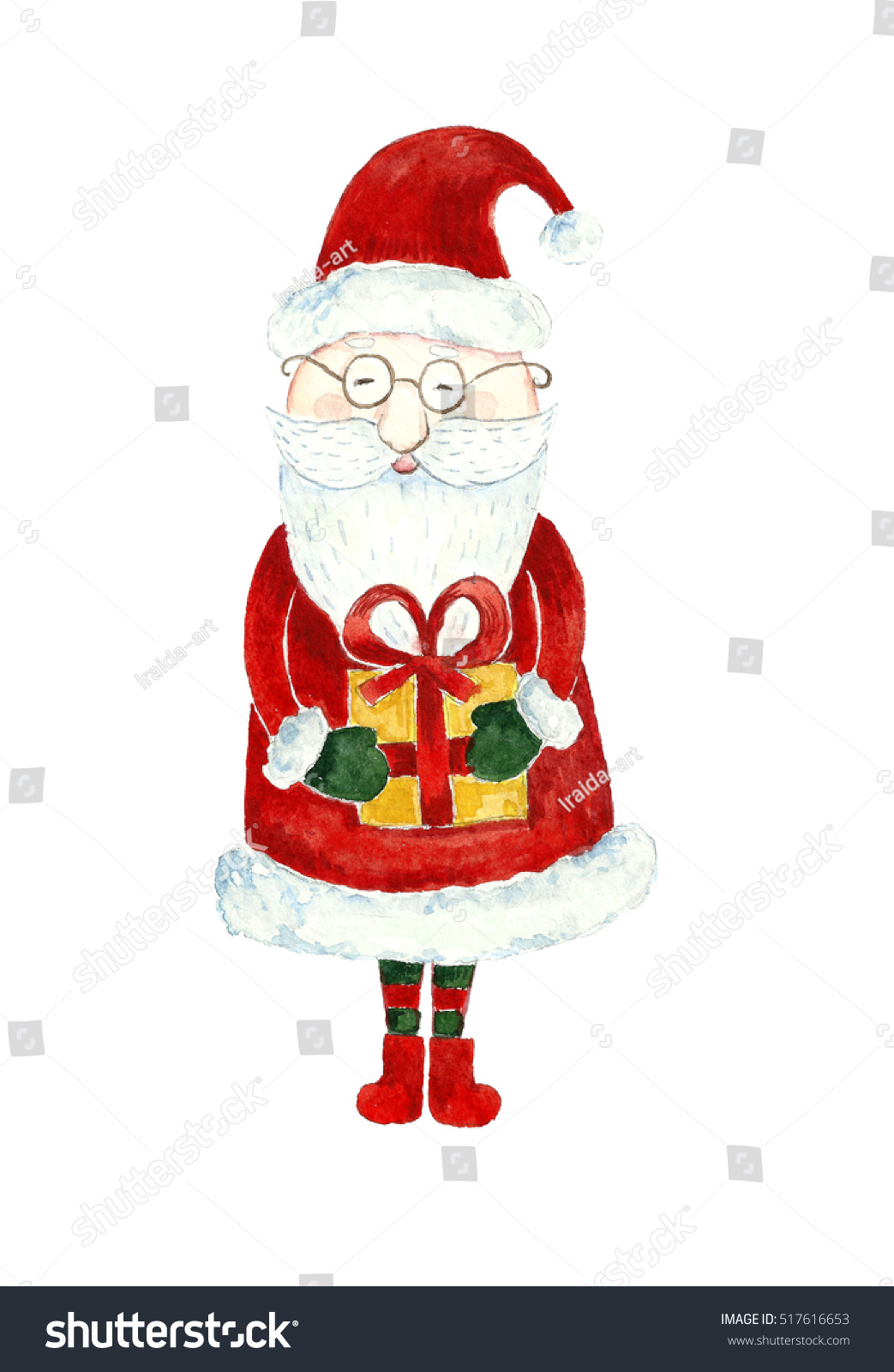 Santa claus gift box stock illustration