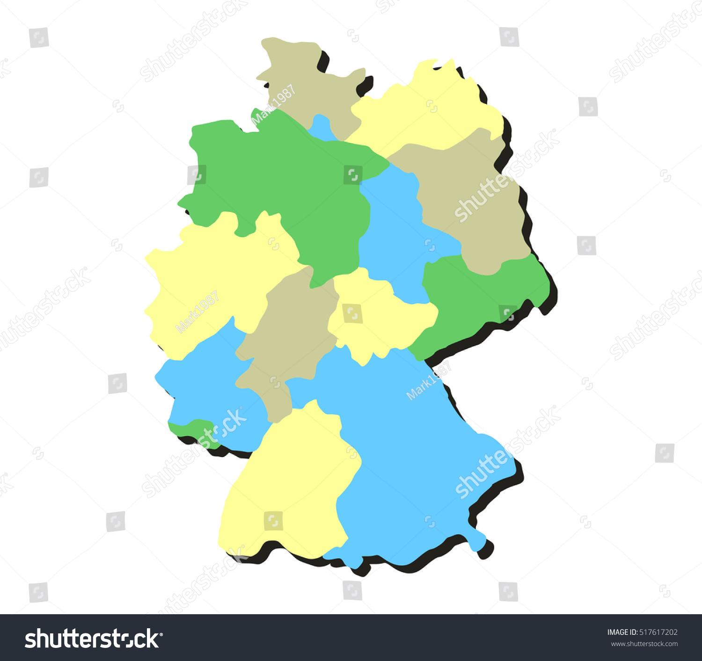 Map Germany Regions Stock Vector Shutterstock - Germany map regions