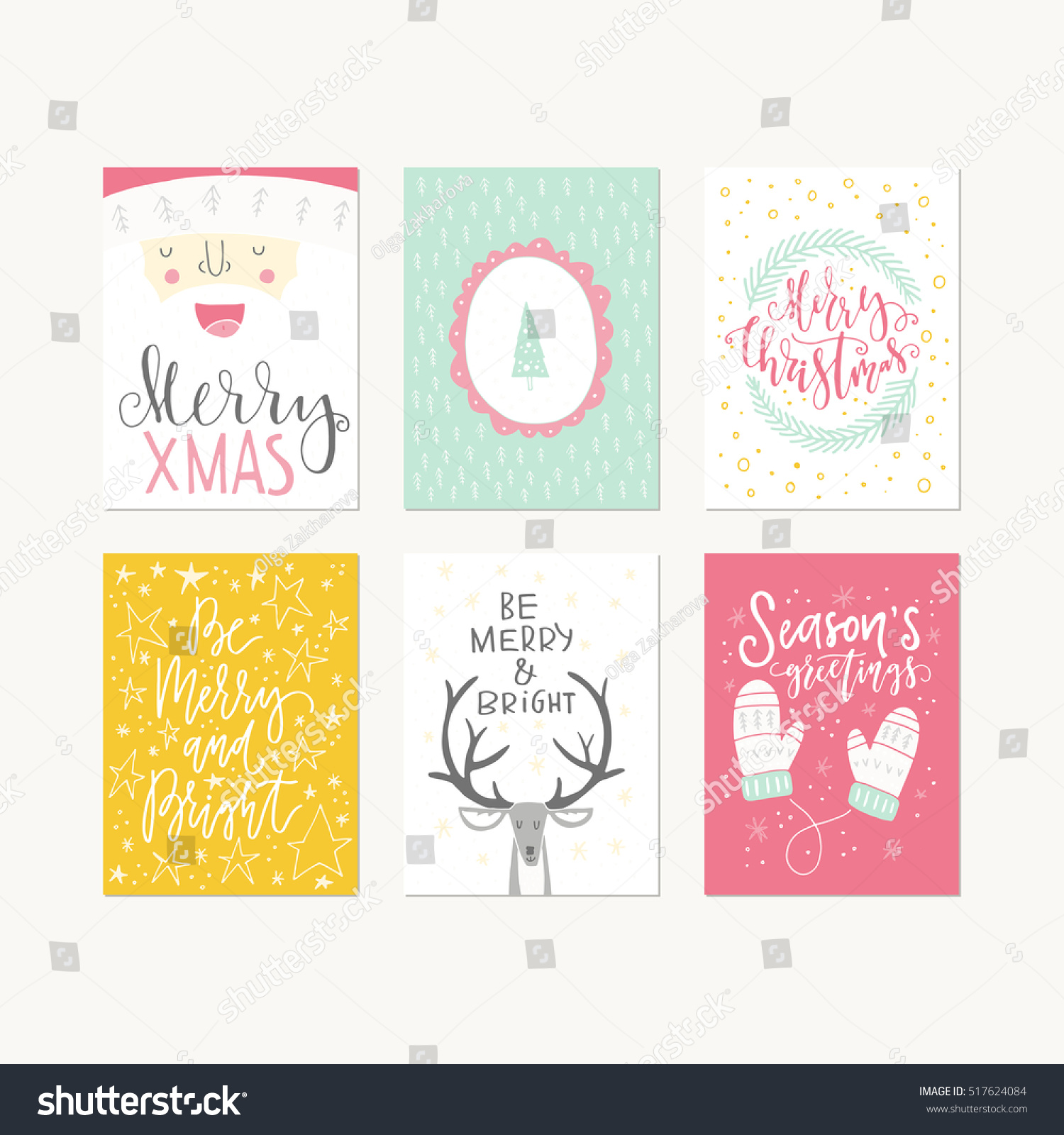collection handdrawn christmas card templates new stock vector collection of handdrawn christmas card templates new year present tags made in vector