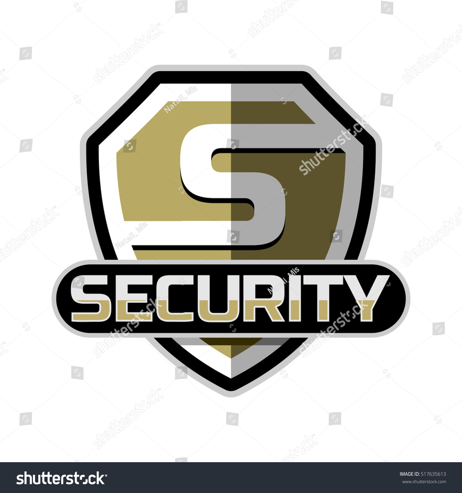 Security Logo Badge Vector Template Stock Vector 517635613 ...
