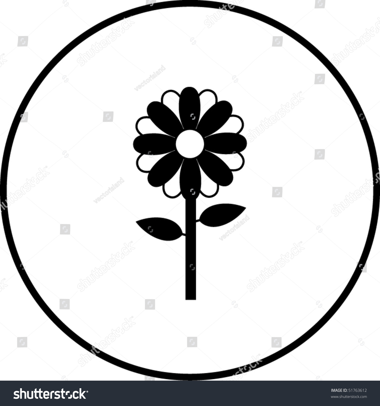 Flower Symbol Stock Vector Illustration Shutterstock
