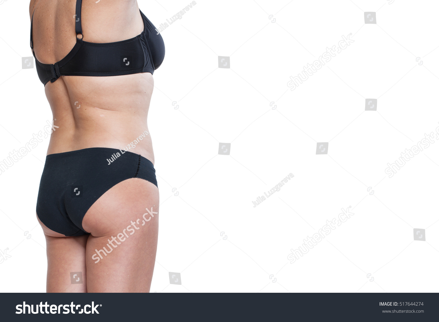66a8eaf4a9993 Fat Woman Underwear Back BODY Women Stock Photo (Edit Now) 517644274 ...