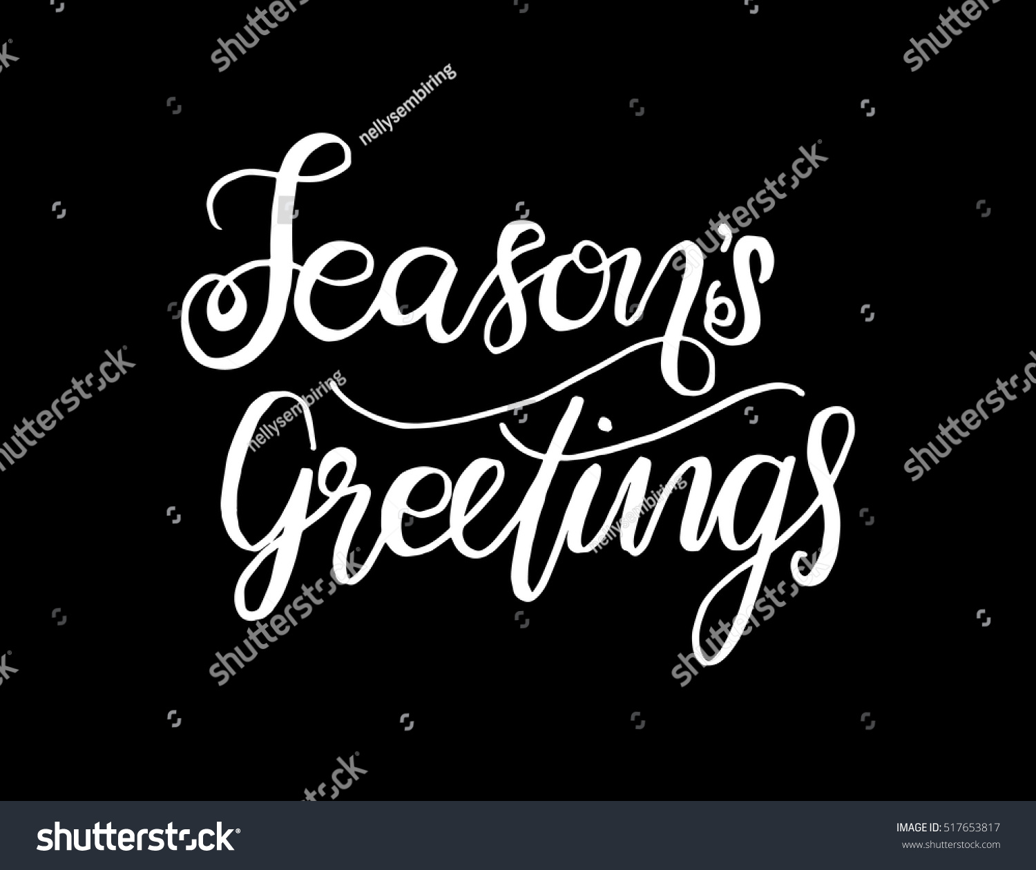 Seasons Greetings Hand Lettered Quote Bible Stock Vector Hd Royalty
