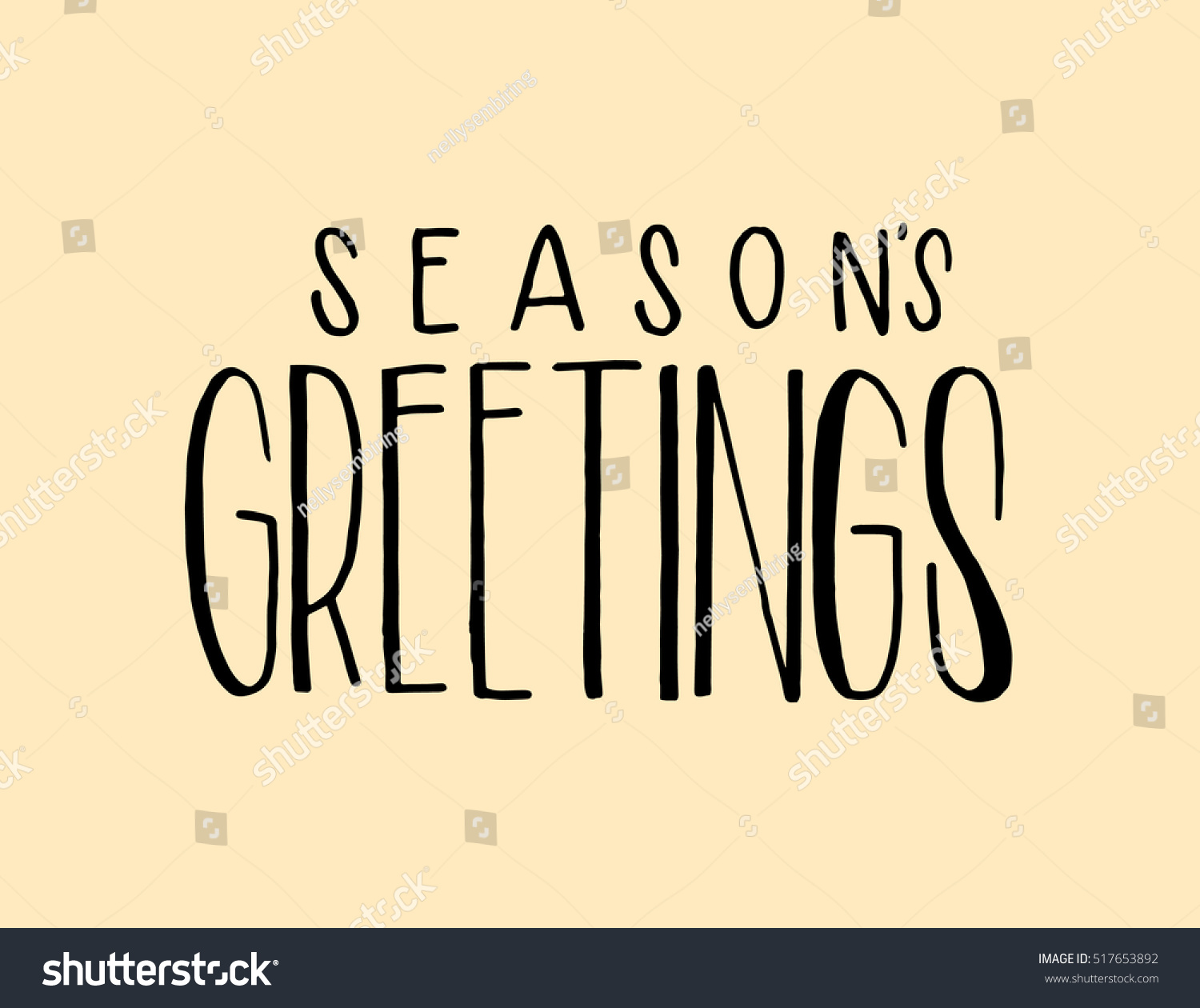 Seasons Greetings Hand Lettered Quote Bible Stock Vector 2018