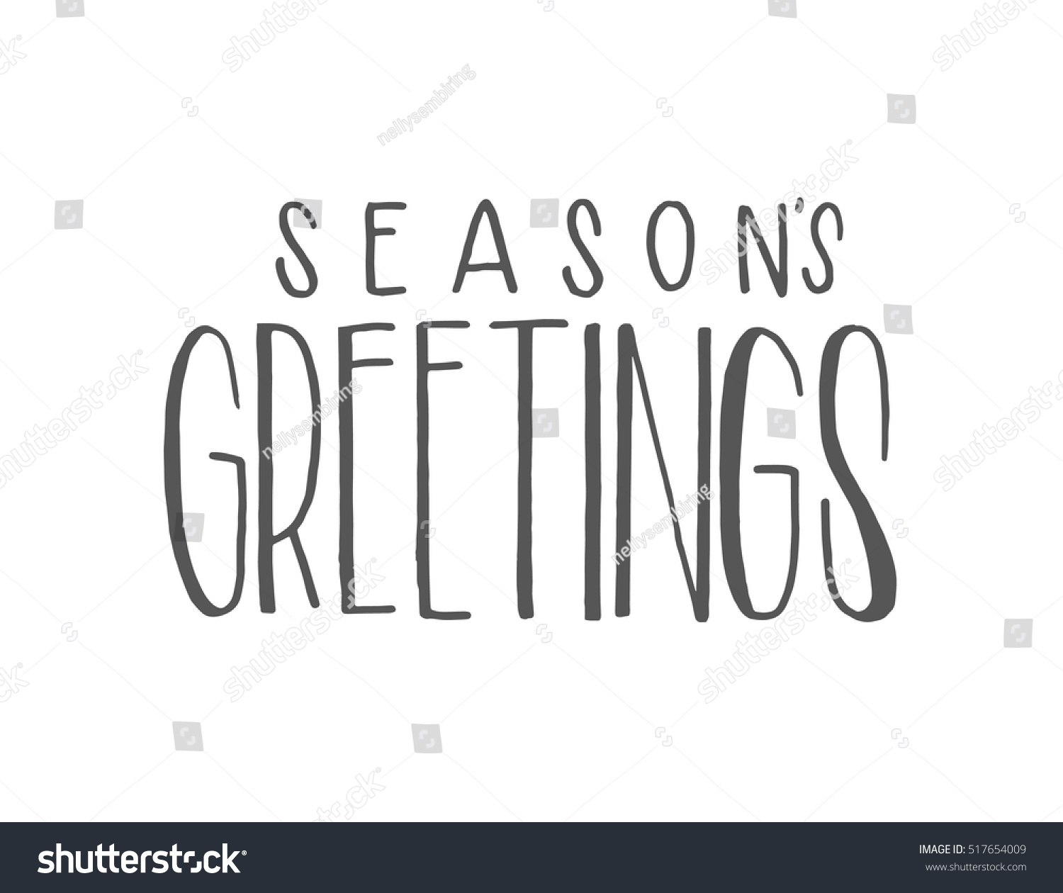Seasons Greetings Hand Lettered Quote Bible Stock Vector 517654009