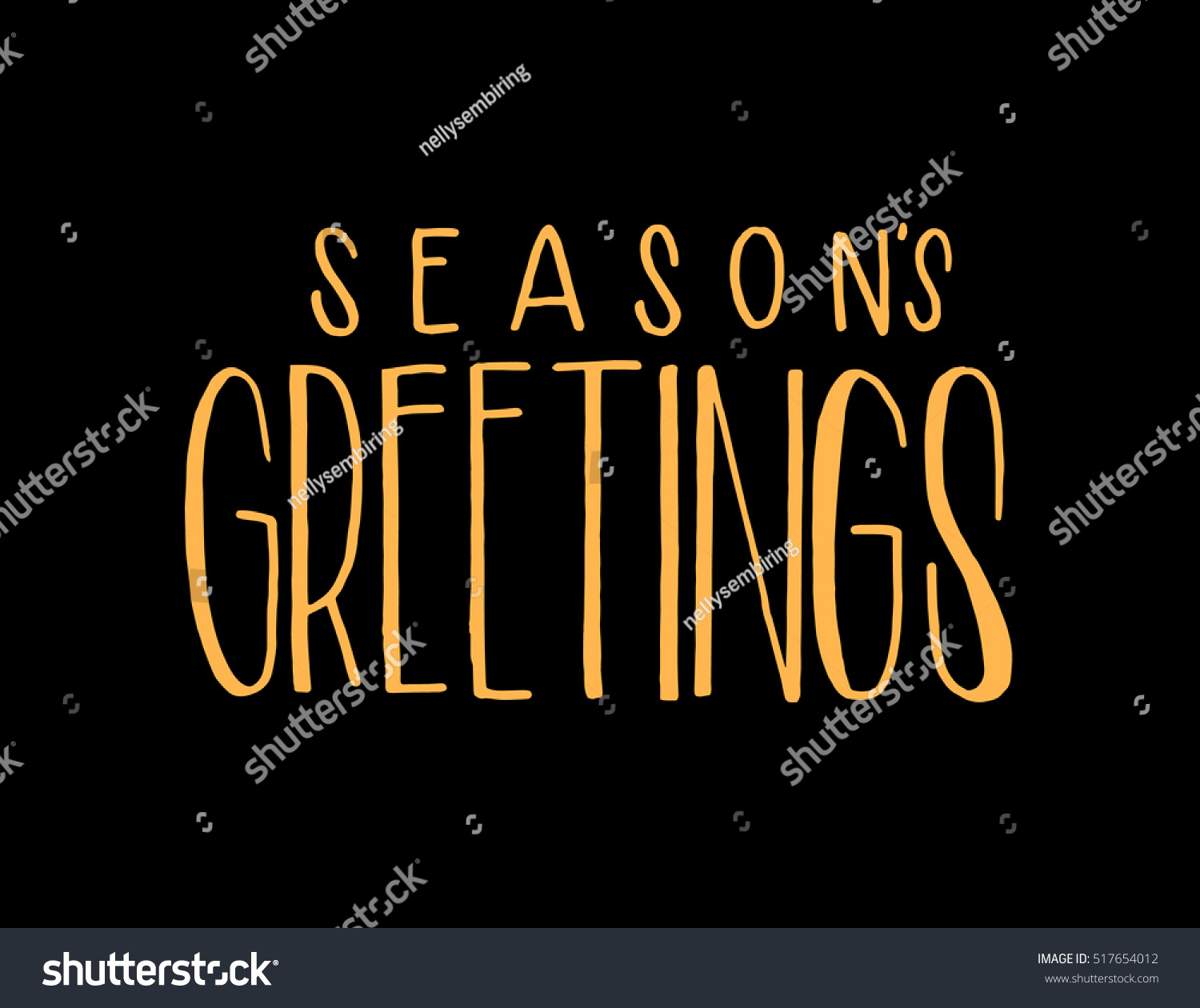 Seasons Greetings Hand Lettered Quote Bible Stock Vector 517654012
